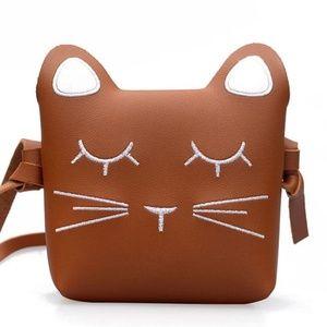 faux leathercat shoulder bag super cute cross body